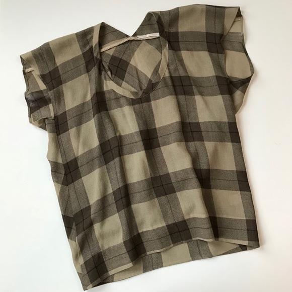 c6ee6440de44 Crispin & Basilio Tops | Crispin Basilio Plaid Tunic Wool Silk ...